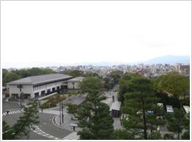 三門楼閣上から京都市街を一望